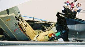 Asiento en la cabina de un F-16