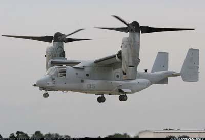 V-22 en modo helicóptero