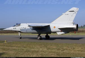 Dassault Mirage F.1 del Ala 14 (Los Llanos) del Ejército del Aire en la Tiger Meet 2009