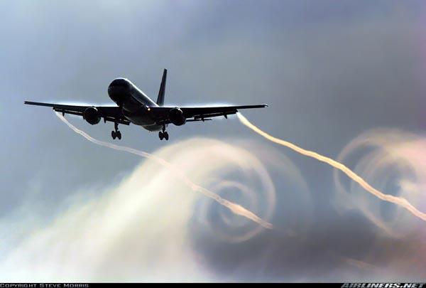Wingtip vortex en aterrizaje