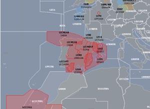 Mapa completo del CFMU