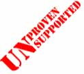 Unproven. Unsupported.